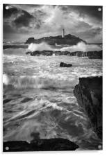 Waves at Godrevy, Acrylic Print