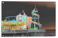 Funky Fair At The End Of The Pier, Acrylic Print