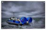 Southsea To Isle Of Wight Hovercraft, Acrylic Print