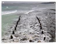 Sea at St. Ives, Acrylic Print