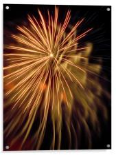 golden firework, Acrylic Print