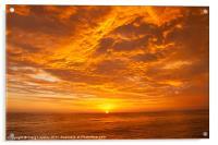 Pacific Sunset, Acrylic Print