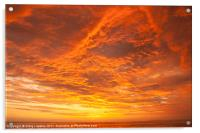 Sunset over the Pacific Ocean, Acrylic Print