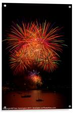 Fireworks at Plymouth, Acrylic Print
