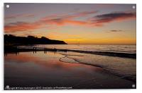 Sunrise Towards Orcombe Point - Exmouth, Acrylic Print