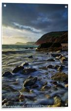 Salcombe Mouth Near Sidmouth, Acrylic Print