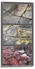 Cornish rock triptych, Acrylic Print