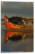 Fishing boat at Crow Point, Acrylic Print