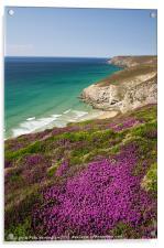 Cornish coast near Porthtowan, Acrylic Print