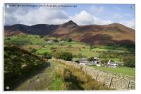 Causey Pike from Little Town, Acrylic Print