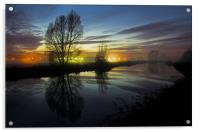 Exeter Canal at twlight, Acrylic Print