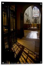In The Shadows, Norwich Cathedral, Acrylic Print