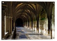Norwich Cathedral Cloisters, Acrylic Print