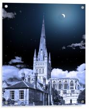 NORWICH CATHEDRAL ECLIPSE, Acrylic Print