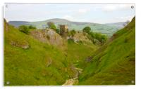 Cavedale walk at Castleton., Acrylic Print