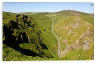 Winnats Pass Derbyshire., Acrylic Print