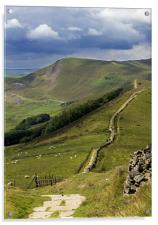 The Great Ridge, Hope Valley, Derbyshire., Acrylic Print