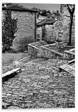 Back Alley, Holmfirth, Acrylic Print