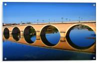 Bergerac Bridge, Acrylic Print