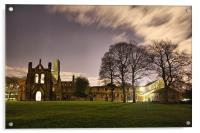 Kirkstall Abbey At Night, Acrylic Print
