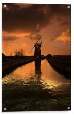 Horsey Mill At the End Of The Day, Acrylic Print