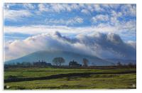 Mist Rolling Over Ingleborough, Acrylic Print