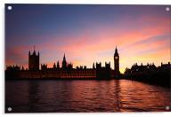 London Skyline Sunset, Acrylic Print