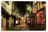 The Shambles, York, Acrylic Print