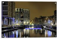 Clarence Dock, Complete re-work, Acrylic Print