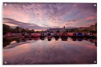 Apperley Bridge Marina, Acrylic Print