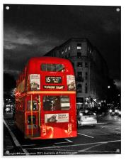 Red London Bus, Acrylic Print