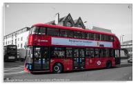 Londons New Routemaster Bus, Acrylic Print