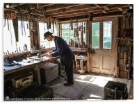 Men in Sheds, Acrylic Print