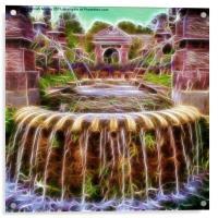 Arundel Castle Garden Pond, Acrylic Print
