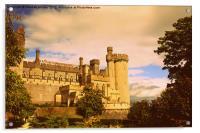 Arundel Castle Sunset, Acrylic Print