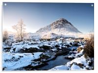 Buachaille in the snow, Acrylic Print