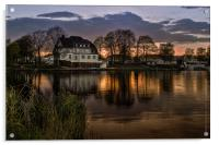 Evening in Spring at the Lake 2013, Acrylic Print