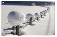 Snow chain VII, Acrylic Print