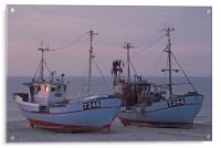 Fisher boats at dusk, Acrylic Print