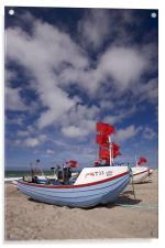 Danish fisherboats, Acrylic Print