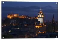 Edinburgh at blue hour, Acrylic Print