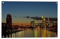 Golden City , Acrylic Print