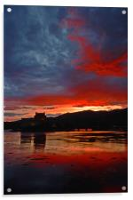 Burning scottish sky , Acrylic Print
