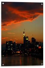 Burning Sky over Skyline, Acrylic Print