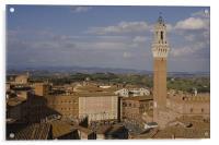 Aerial view of Siena, Acrylic Print