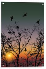 OCTOBER SUNSET, Acrylic Print
