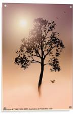 A TREE IN THE FOG, Acrylic Print