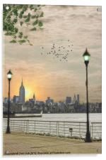 GOOD MORNING NEW YORK, Acrylic Print