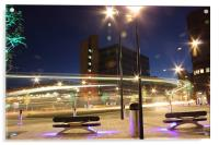 Sheffield city centre roundabout, Acrylic Print