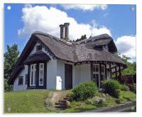 Sulham Cottage, Acrylic Print